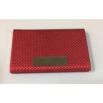 時尚男女紅色創意紋路商務金屬名片盒/名片夾